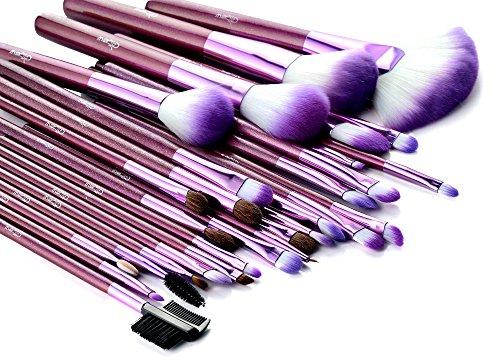Glow 30 Piece Makeup Brushes Set in Purple Crocodile Design Case