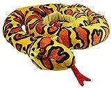 XXL Schlange super weich 254 cm Plüschtier Kuscheltier Stofftier Plüsch Boa Cobra Python Anakonda Spielzeug auch als Zugluftstopper geeignet - Gelb