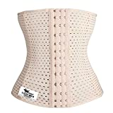 Grasshopr Women's Waist Trimmer and Slimming Corset with 3 Hooks Girdle (Beige, XL)
