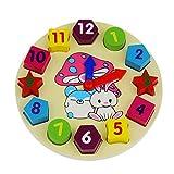 Die besten 4 Jahre alten Jungen Geschenke Verkäufer - Balai Hölzern Form Puzzle Uhr Puzzle,Uhr kognitive Bildung Bewertungen
