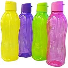 Tupperware Eco fácil Botella de 750 ml 4 set (4 * 750 ml), Multicolores