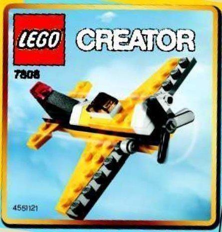 LEGO Creator: Gelb Flugzeug Setzen 7808 (Beutel)