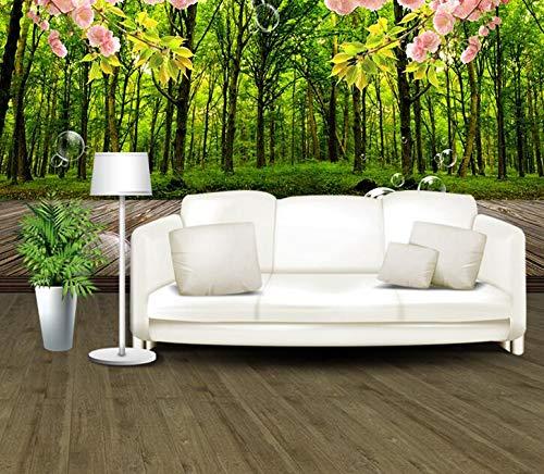 3d dreidimensionale natur wald landschaft tapete TV hintergrundbild schlafzimmer wohnzimmer video wand nahtlose wandbild 300 cm * 210 cm
