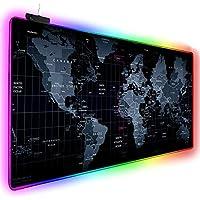 قاعدة ماوس العاب بالوان الفضاء اللوني ار جي بي من اينو تيك، 14 وضع، ضوء ليد كبير متوهج، تصميم موسع وناعم، قاعدة مطاطية مقاومة للانزلاق وسطح مقاوم للماء، 31.5 × 12 × 0.2 انش