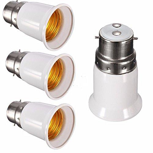 SFTlite 4x Adaptateur base de lampe converter B22 douille à E27 base de la lampe pour lampes à LED, halogène, à économie d'énergie