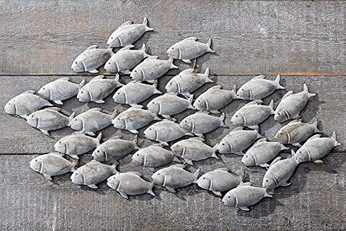 Tamia-Home Wand-Objekt Wanddeko Wandbild Fischschwarm L97cm 7644100