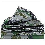 WCS Gepolsterte Wasserdichte Tarnung LKW Plane Regen Tuch Sonnencreme Visier PVC Oxford Tuch Canvas Outdoor Tuch Benutzerdefinierte Zelt-Kleint (Size : 5.8x6.8m)