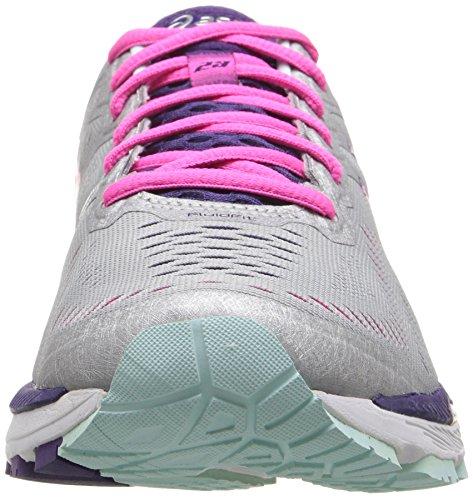 Asics Gel-kayano 23, Scarpe da corsa donna blu Cockatoo/Safety Yellow/Lapis Silver/Pink Glow/Parachute Purple