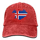 2018 Adult Fashion Cotton Denim Baseball cap Iceland Map Flag Classic Dad Hat Adjustable Plain cap