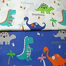 Fuya - Tejido de gamuza para costura 160 x 100 cm, diseño de dinosaurios