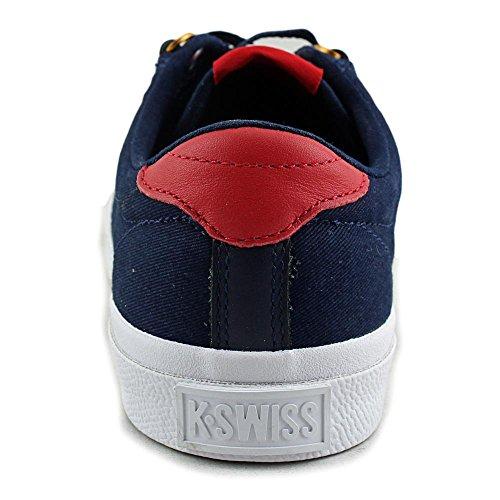 K-Swiss Irvine T, Baskets Basses femme Bleu - Blau (Dress Blues/Ribbon Red/Dark Gum)