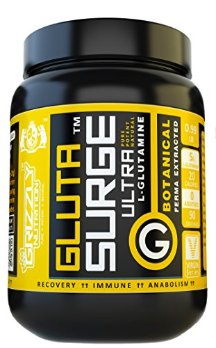 Grizzly Nutrition Pure L – Glutamine 5000Mg/Serving – Unflavoured – 450Gm – 90 Servings