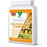 A-Z Multivitamins & Minerals with Iron | For Men and Women | Letter Box Friendly Flat Postal Bottle | Made in the UK | Available in 60, 120 & 180 Tablet Packs | Including Zinc, Iron, Magnesium, Copper, Potassium, Vitamin A, C, B1, B2, B3, B5, B6, D3, B12, Biotin
