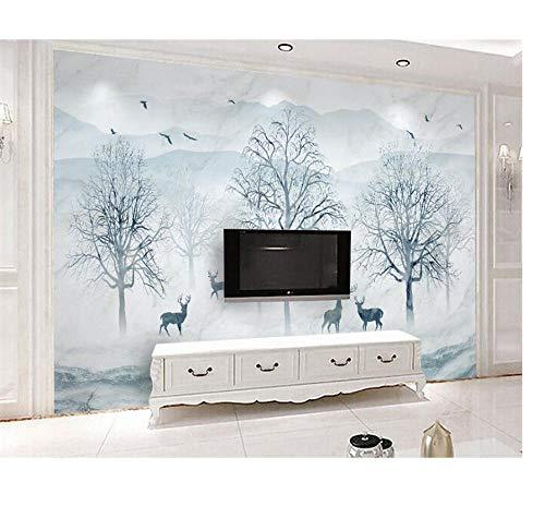 Wandgemälde Nordische abstrakte Waldelche Benutzerdefinierte Wohnkultur 3D HD Muster Weihnachten wasserdichte Schönheit sagen lustige Kind Wandkunst Pflanze