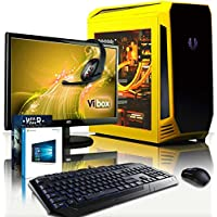 "VIBOX Submission 29.35 Gaming PC Computer with Game Voucher, Windows 10 OS, 22"" HD Monitor (4.2GHz AMD FX 8-Core Processor, Nvidia GeForce GTX 1060 Graphics Card, 32GB RAM, 120GB SSD, 3TB HDD)"