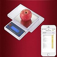 Báscula de Cocina Digital Inteligente de 5 kg/1 g con Bluetooth, báscula nutricional