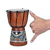 Pintada a mano Djembe tambor de piel de cabra Profesional Materiales Classic Pintura África Occidental tambor de Bongo para niños Kid toys-11.81(* 6pulgadas, 4 pulgadas