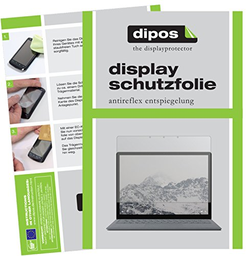 Microsoft Surface Laptop Schutzfolie - 2x dipos Displayschutzfolie Folie matt