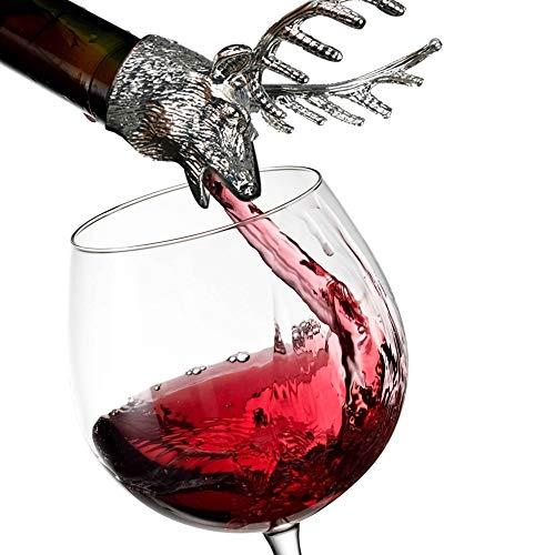 Wawer Hirschkopf Elch Weinausgießer Edelstahl Wein Ausgießer Stopper Flaschenverschlüsse Anti-Tropf Bar Wein Stopper -