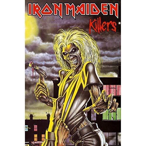Rz Iron Maiden Killers Grandes Tela Póster/Bandera