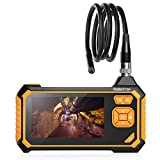 Koolertron Industrial Endoscope, Borescope Micro Inspection Camera 4.3 Inch Color LCD Screen, Waterproof Snake Camera with 6 LED Lights, 1080P HD Handheld Digital Endoscope 2600mah Lithium Battery