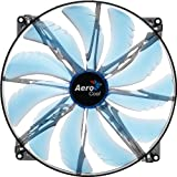 AeroCool SilentMaster LED Ventilateur PC 200 mm Bleu