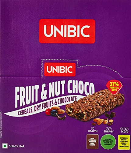 Unibic Snack Bar Fruit & Nut Choco Pack of 12,...