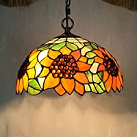 Global-12 pollici Tiffany girasole lampadari in vetro
