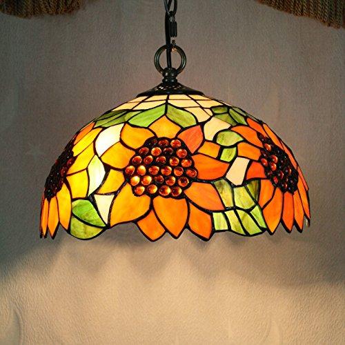 DELLT-12 pollici Tiffany girasole lampadari in vetro