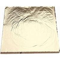 Pinzhi 100 Sheets Nachahmung Blattgold Folie Papier Vergoldung Kunsthandwerk 14x14cm