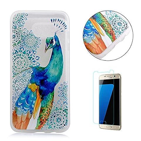 Samsung Galaxy S7 H¨¹lle£¨Mit Frei HD Displayschutz) Transparent Weiche Silikon