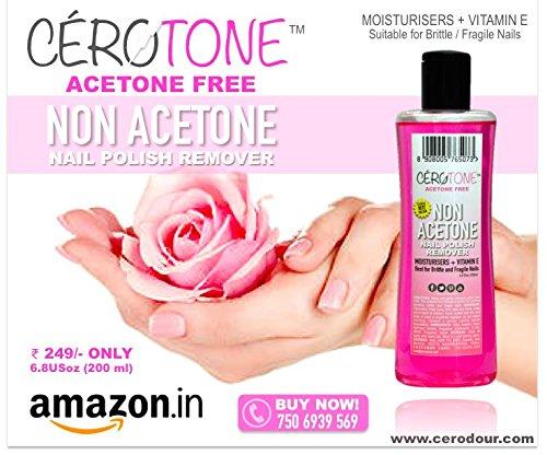 """CERO CEROTONE """"NON ACETONE"""" Nail Polish Remover Moisturisers + Vitamin E"""