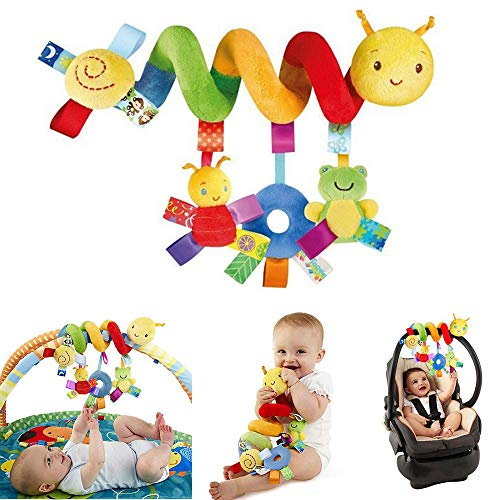 PIXNOR Stroller Toy Spiral Toy Bed Hanging Toys Baby Car Seat Toy Plush Crinkle Toys Educational Toy