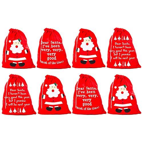 Por Robelli - Juego de 8 Sacos de Papá Noel