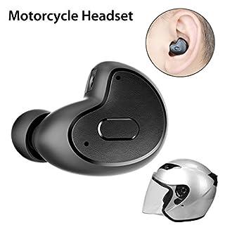 Avantree Mini In Ear Bluetooth Kopfhörer (Nur Links Ohr) für Motorradhelm GPS Navi, Podcasts, Audiobooks, Kabellos Unsichtbarer Kleiner Ohrhörer Ohrstöpsel, Wireless Kleinste Motorrad Headset
