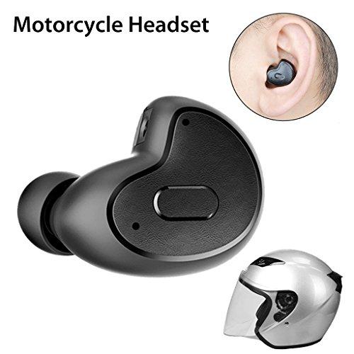 Avantree Mini In Ear Bluetooth Kopfhörer (Nur Links Ohr, Nicht für Anruf) für Motorradhelm GPS Navi, Podcasts, Audiobooks, Kabellos Unsichtbarer Kleiner Ohrhörer Ohrstöpsel, Wireless Kleinste Motorrad Headset - Apico