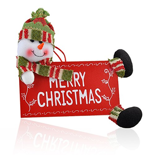 Addobbi Natalizi, kingtoys® Buon Natale Segno Decoration Wall Hanging Porta