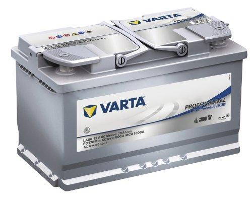 Varta 840080080C542Batteria professionale d'avviamento, per auto, 12V, 80mAh