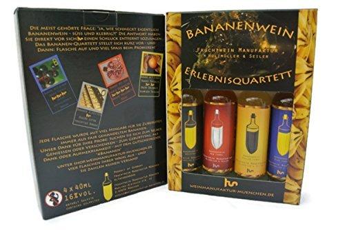 M U V I N Erlebnisquartett, Bananenwein 4 x 4 cl