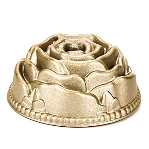 Kuche Guglhupf-Backformen 4inches Gussteil Aluminium Kuchenform Backform Gugelhupf Goldfarben Rose