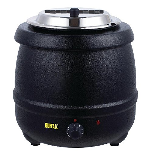 51pwXqPDE1L. SS500  - Buffalo Black Soup Kettle 10Ltr/360X345mm Stainless Steel Electric Jug