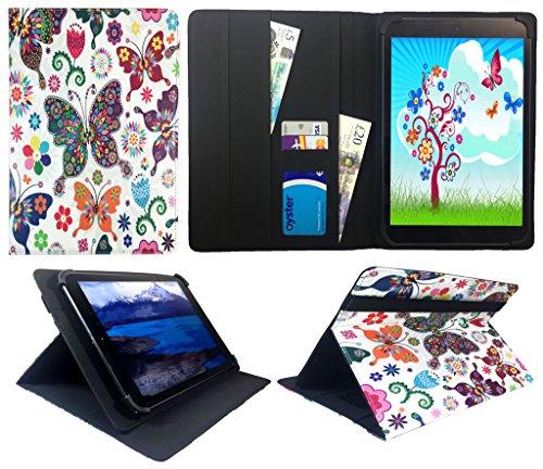 HKC One Thor M104Y 10.1 inch Tablet Multi Schmetterling Universal Wallet Schutzhülle Folio ( 10 - 11 zoll ) von Sweet Tech
