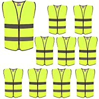 ZOJO High Visibility Safety Vests,Adjustable Size,Lightweight Mesh Fabric, Wholesale Reflective Vest for Outdoor Works, Cycling, Jogging, Walking,Sports - Fits for Men and Women