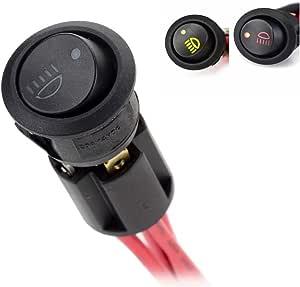 Jtron Diy Nebel Lampe On Off Rocker Schalter Rot Gelb Grün Led Auto Nebelschlussleuchte Schalter Mit Podest Auto