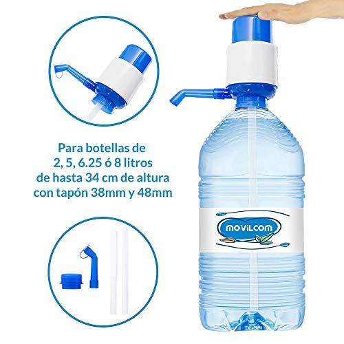 MovilCom® - Dispensador Agua para garrafas | Dosificador Agua garrafas Compatible con Botellas (Pet) de 2,5, 3, 5, 6, 8 y 10 litros | para Botellas con el tapón diámetro 38mm y 48mm