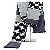 Tininna - Écharpe d'hiver pour homme tendance en soie - Écharpe chaude, cachemire, chauffe cou, coupe longue gris...