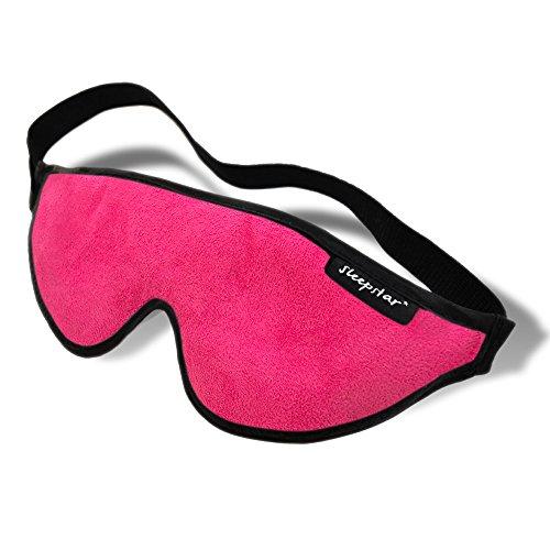 Stellar Deluxe Schlafmaske - angenehm weich, hoher Tragekomfort, ideal auch für unterwegs - Pink