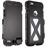 Alienwork Metal Gear Schutzhülle für iPhone 6 Plus/6s Plus Stoßfest Hülle Case Bumper Ständer Edelstahl schwarz AP6P12-01
