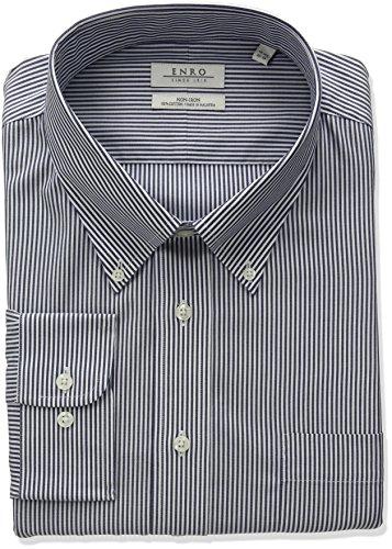 Enro Herren Hemd, klassisch, gestreift, Bengal - Blau - 18.5