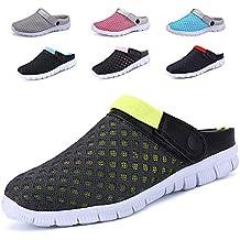 613593684bd CCZZ Zuecos de Verano para Mujer Hombre Antideslizante Respirable Zapatos  Zapatillas Sandalias Chanclas de Playa Ahueca